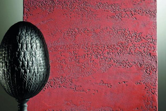 Декоративная фактурная штукатурка Rasato Travertino (di calce Grosso) из Италии для создания эффекта травертин